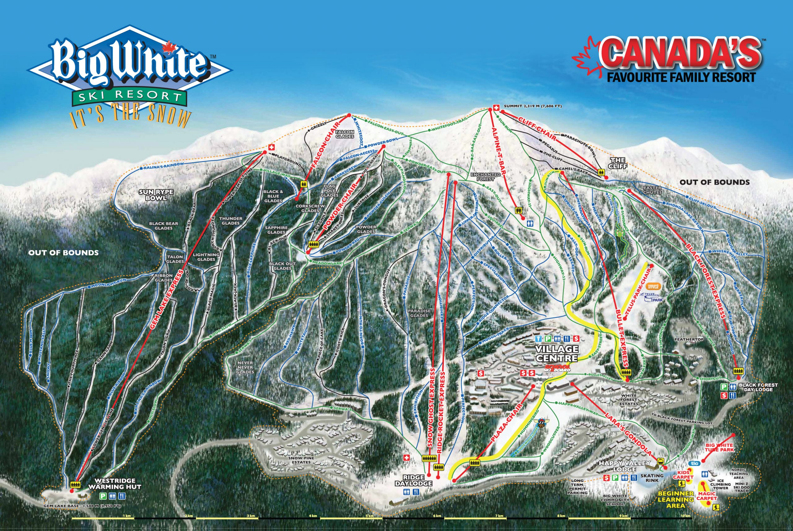 Big White Ski Resort trail map
