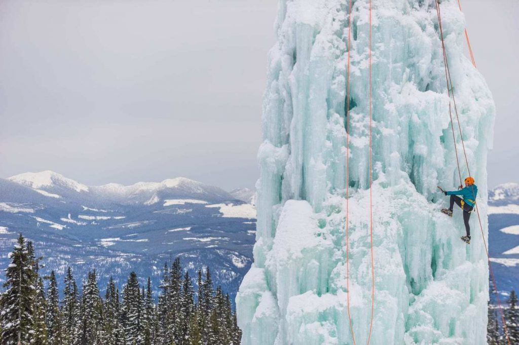 ice climbing Big White