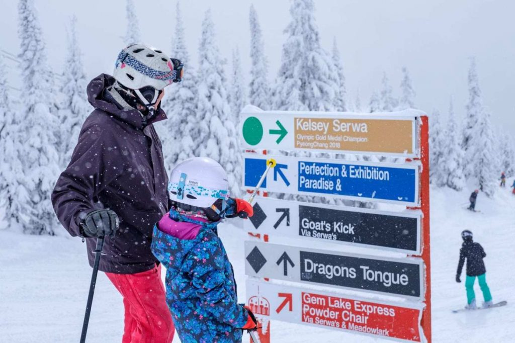 Big White Ski Sign Guide