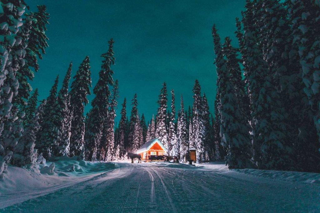 Big White ski resort and hidden cabins