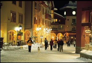 Sun Peaks Resort Village_stroll night