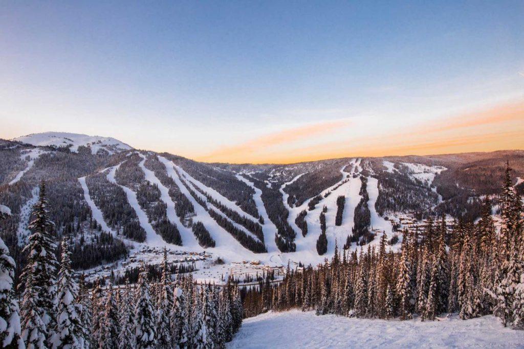 Sun Peaks ski trail