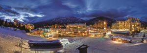 Whistler Village - Skiers Plaza at night.