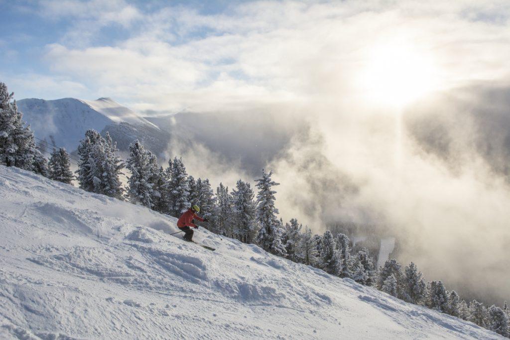 Skier at Panorama Mountain Resort