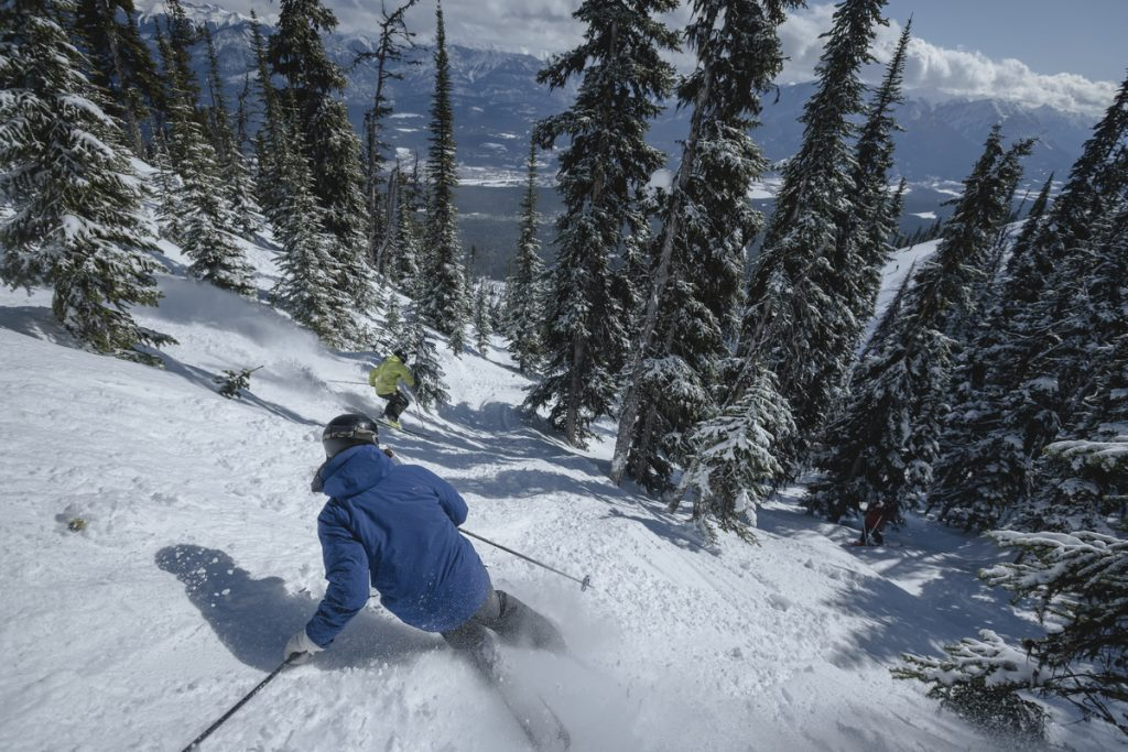 Man skiing at Kicking Horse