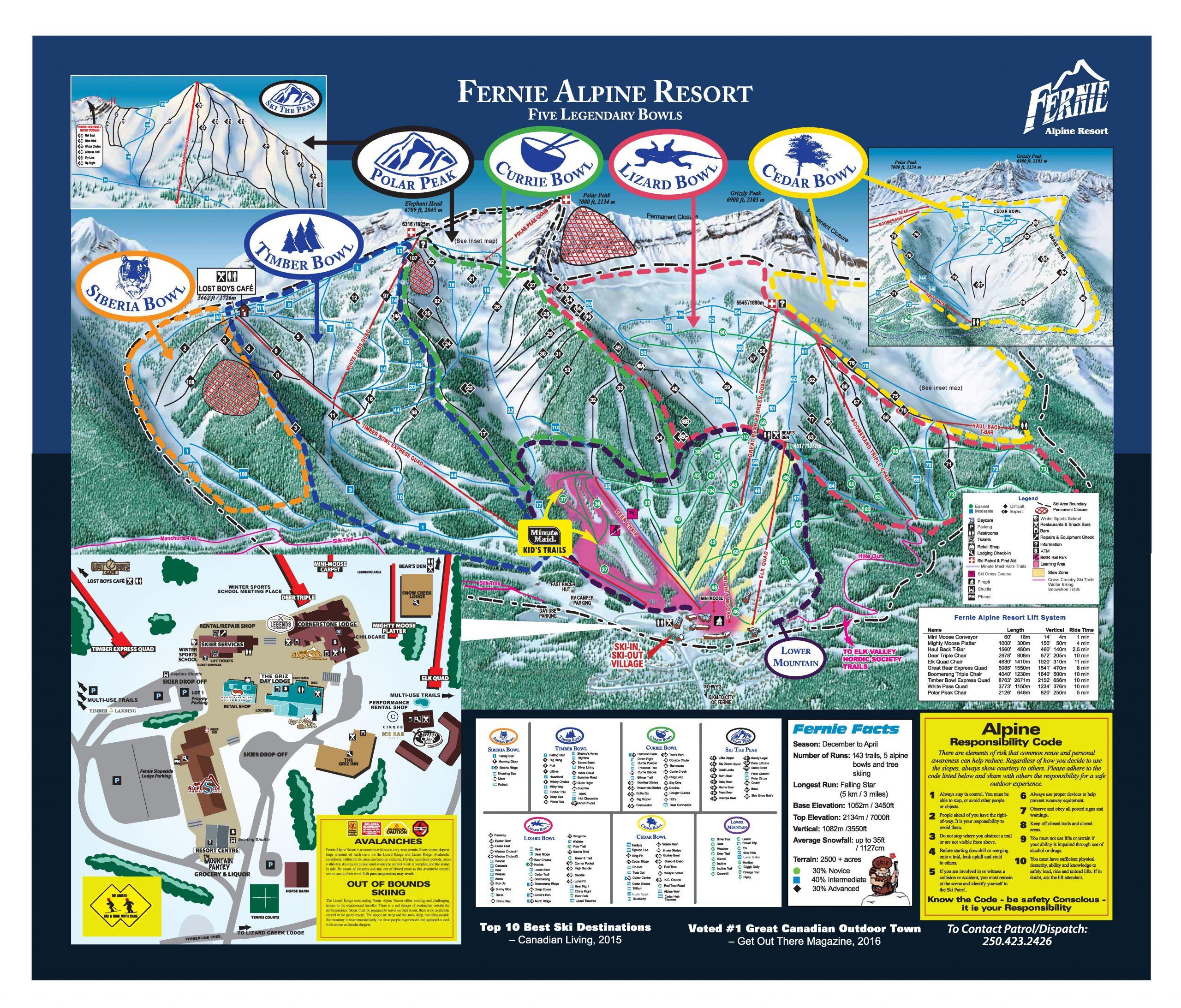 Fernie Alpine Resort trail map