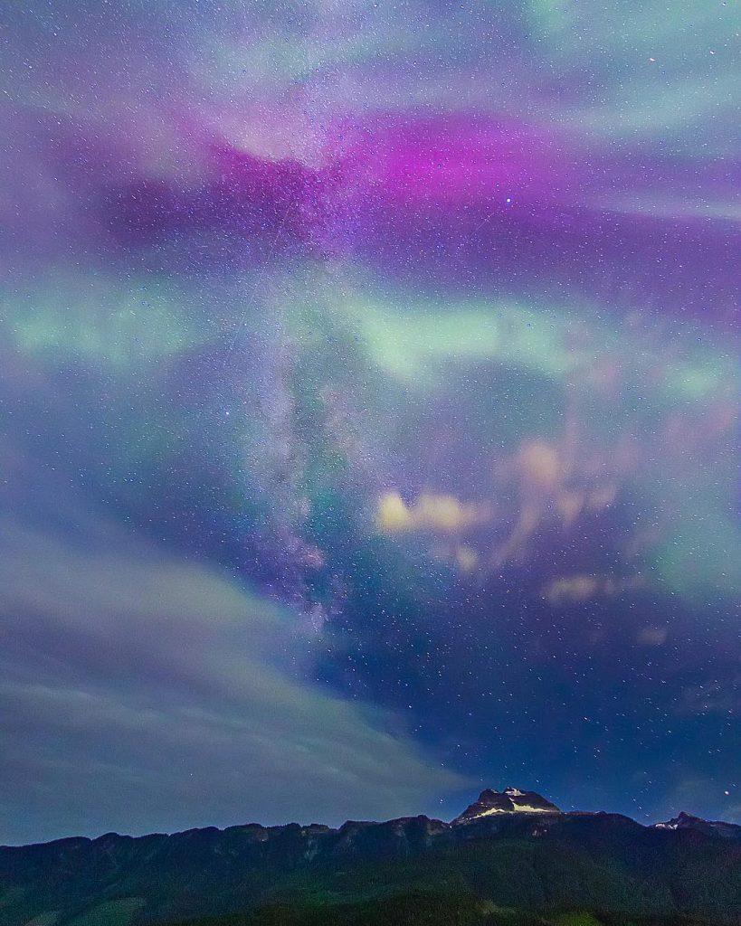 Star gazing at Revelstoke night sky