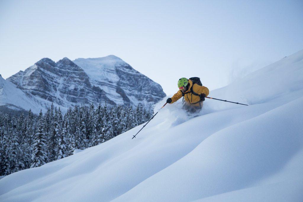 Lake Louise powder skiing