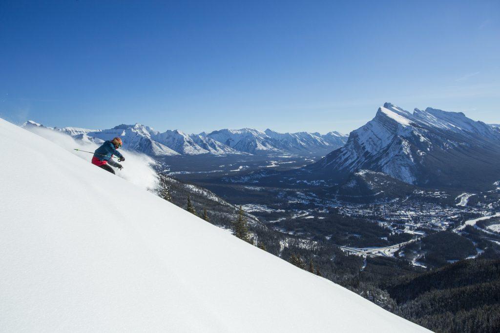 skiing at Banff Mt Norquay