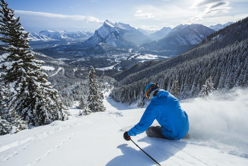 Skier at Banff Mt Norquay
