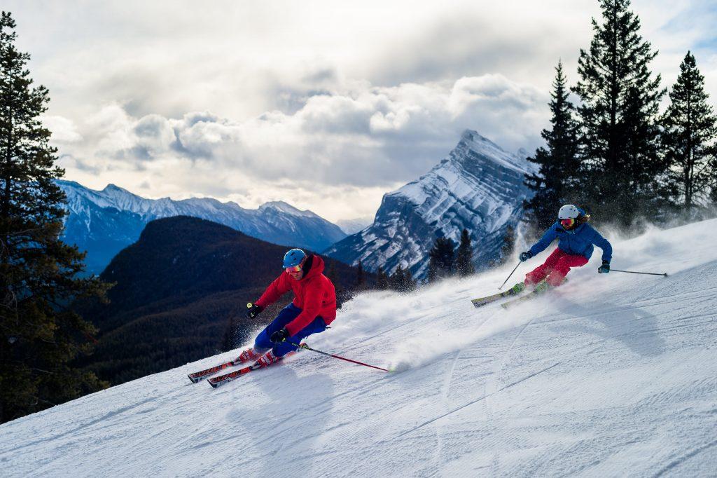 people skiing at Banff Mt Norquay