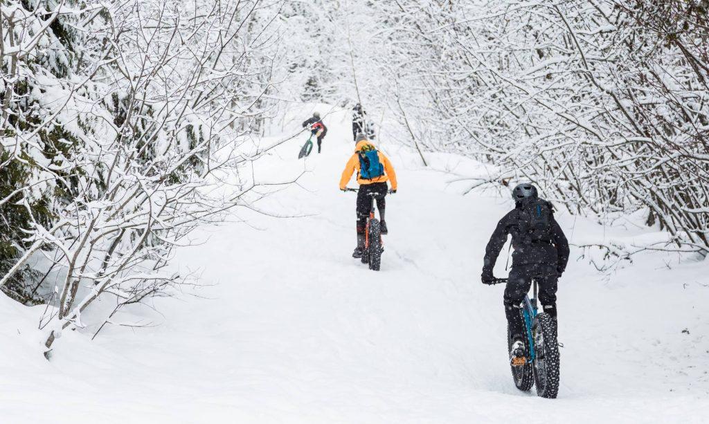 Fat biking at Red Mountain Resort
