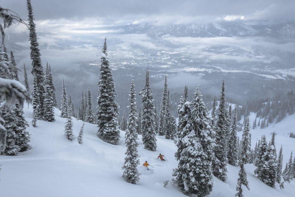 Skiers at Fernie Alpine Resort