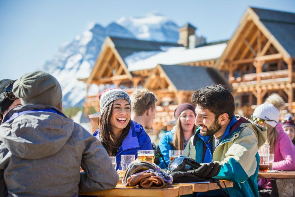 People eating at Lake Louise Ski Resort