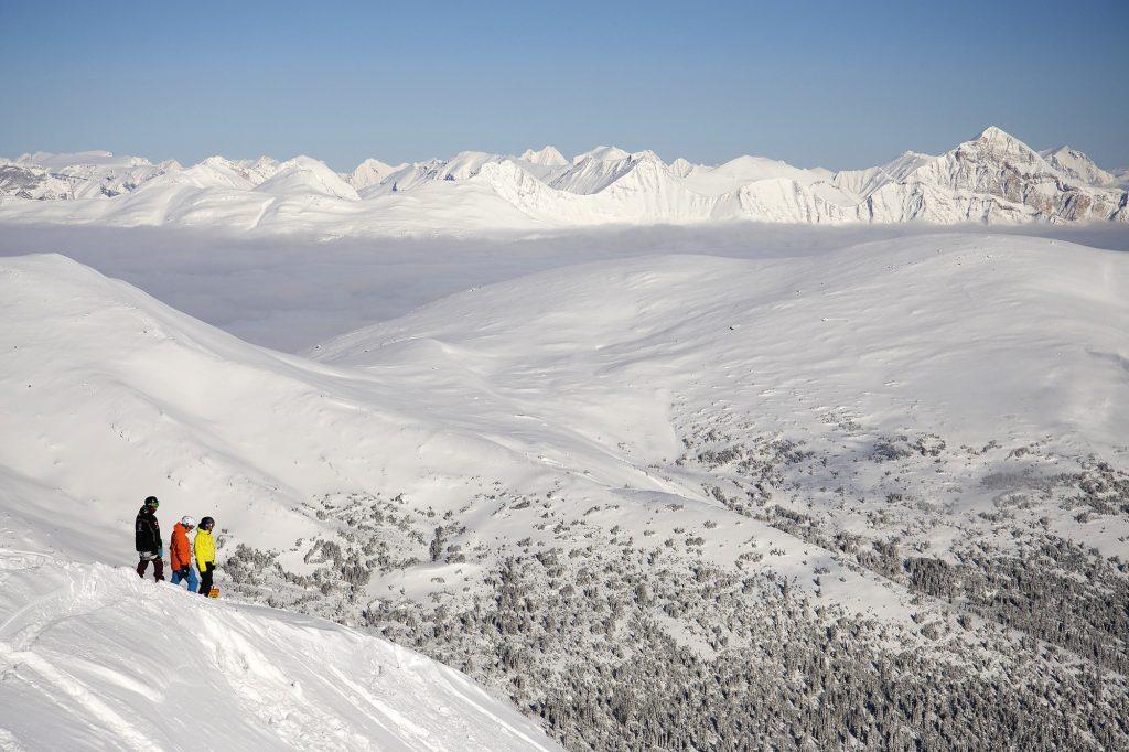 Ski mountains in Marmot Basin