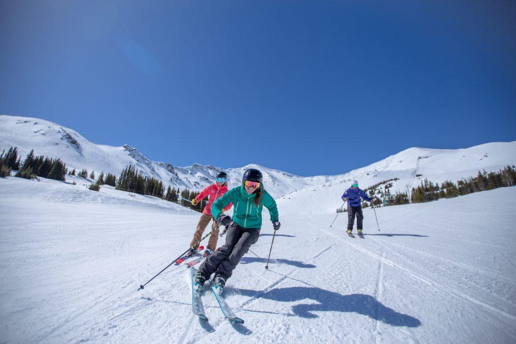 people skiing at Marmot Basin ski resort