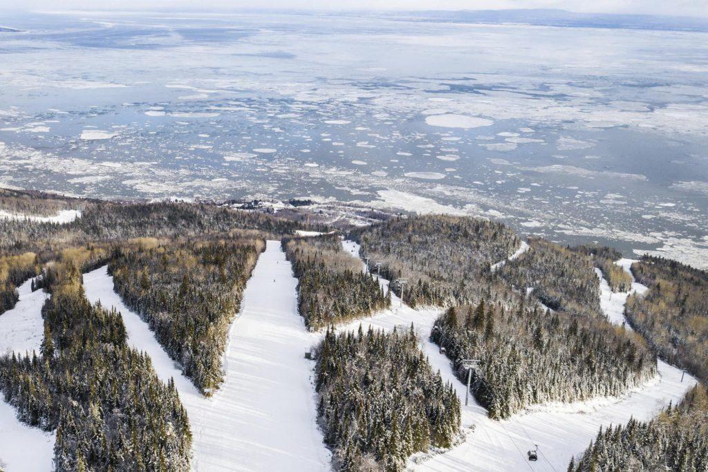 Club Med Charlevoix ski view